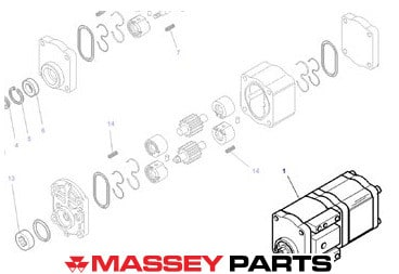 Massey Ferguson Hydraulic Pump - 3797116M2 | Massey Parts | Martin's Garage