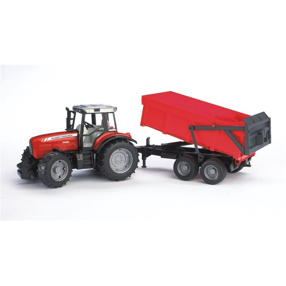 Bruder Massey Ferguson 7480 With Tipping Trailer - X993060045000 | Massey Parts | Martin's Garage