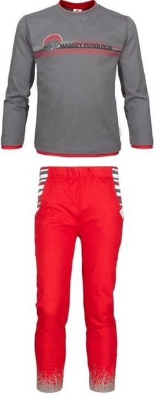 Massey Ferguson Grey / Red Kids Pyjamas - X993310006 | Massey Parts | Martin's Garage