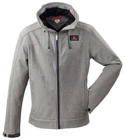 Men's Grey Hooded Soft Shell Jacket | Massey Parts | Martin's Garage