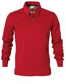Men's Red Rugby Shirt | Massey Parts | Martin's Garage