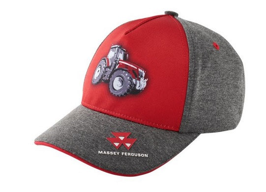 MF KIDS' GREY AND RED CAP