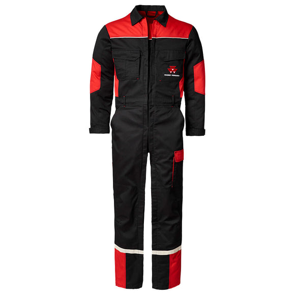MF Black and Red Overall with Double Zip
