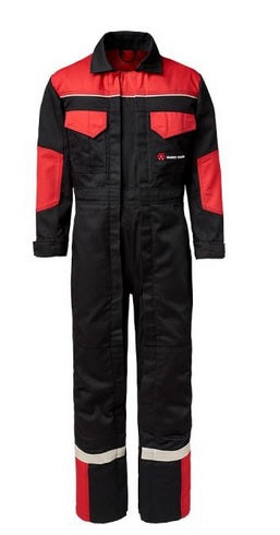 MF Kids Overalls - Black & Red Double Zip