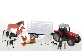 MF 8600 Tractor and Trailer Playset | Massey Parts | Martin's Garage