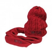 Ladies Knitted Hat and Scarf | Massey Parts | Martin's Garage
