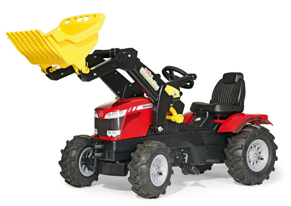 Rolly MF 8650 Pedal Tractor with Loader and Pneumatic Wheels