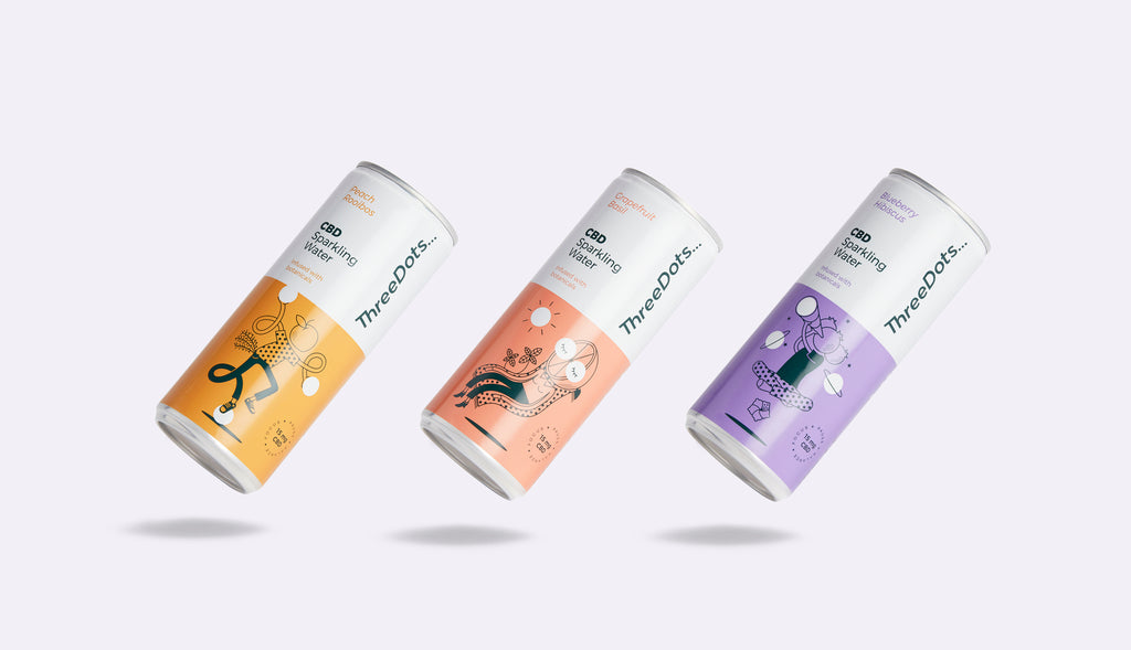 ThreeDots botanical-infused CBD sparkling water
