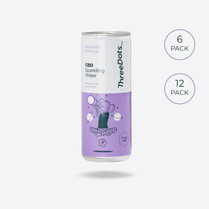 ThreeDots CBD botanical-infused sparkling water Blueberry Hibiscus