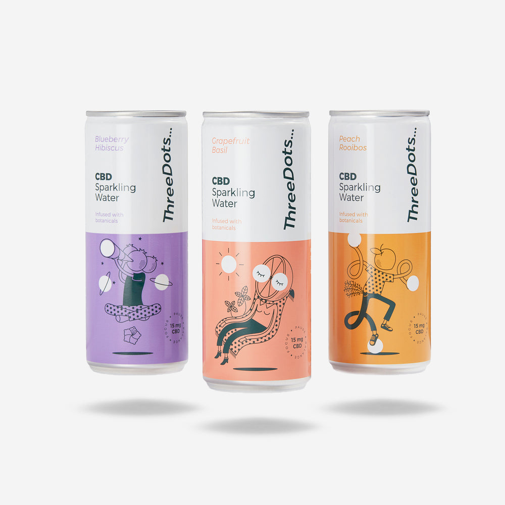 ThreeDots CBD botanical-infused sparkling water Try Pack