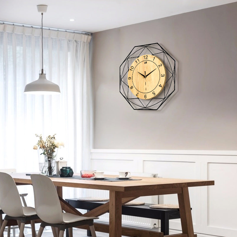 New arrival creative Solid Wood Silence Simple Quartz Wall Clock
