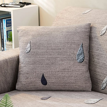 Soft Shaggy Sofa Pillow Case Flower Pattern Decorative Cushion