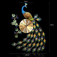 Unique Edition Luxury Peacock Silent Creative Wall Quartz Clock