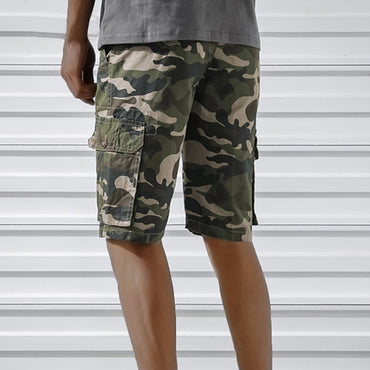 Brand Design Men Cargo Shorts Casual Pockets Military Fashion Camouflage Shorts