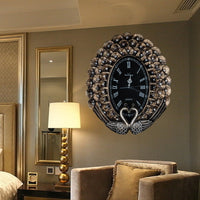 High-end retro mural European style modern art ornaments Fashion creative wall clock