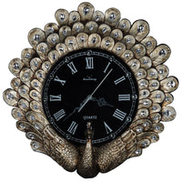 Vintage high-end decorative American style art peacock wall clock