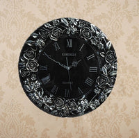 Diamond Peacock rose sun European style fashion wall clock