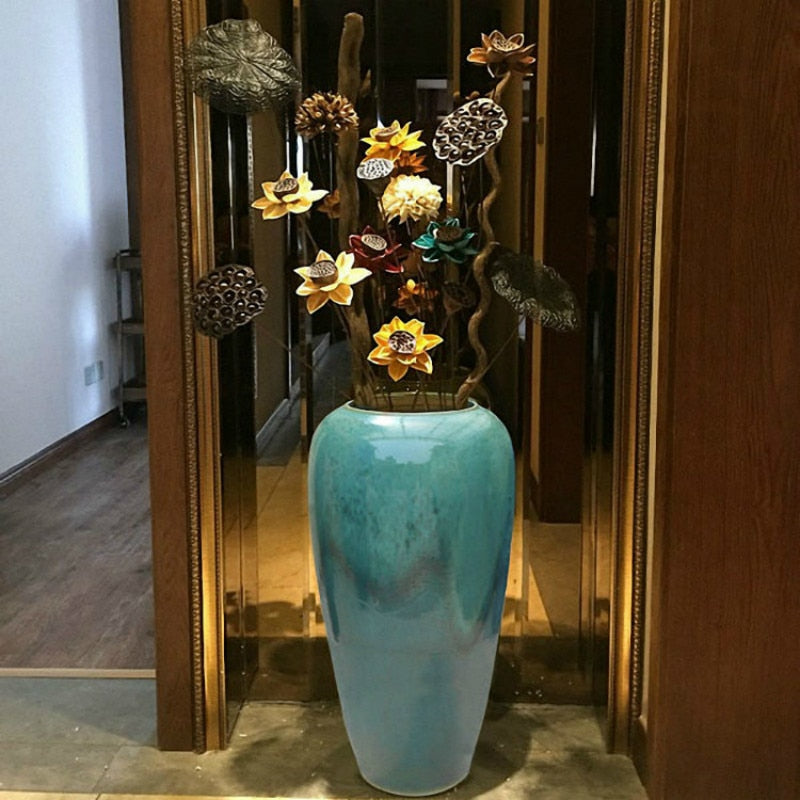 Longquan celadon flower fashion small ornaments decoration ceramic flower vase