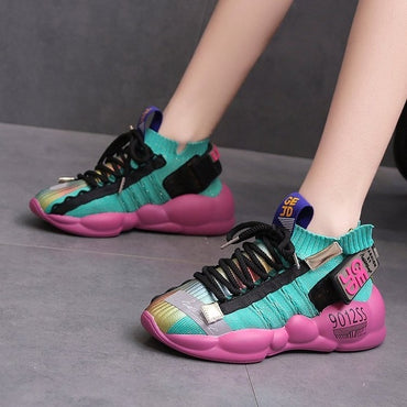 New Women Platform Sneakers Cake Bottom Casual Shoes