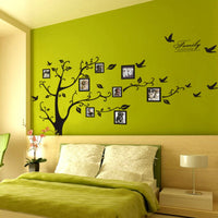 Large 3D DIY Photo Frame Tree Shape Adhesive Wall Stickers Mural Art Home Decor
