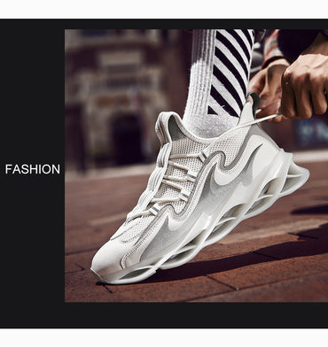 Men Sneakers Reflective Blade Warrior Shock Absorption Cushioning Running Shoes