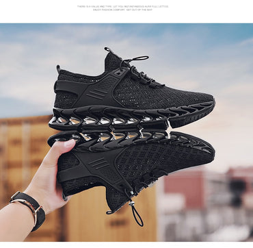 Men Professional Running Shoes Breathable Knitted Fly Men Blade Sneakers