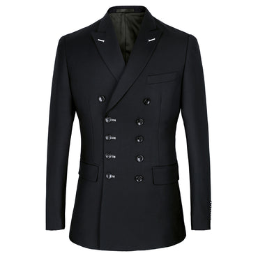 Men Suit Slim Fit New Fashion Double Breasted Peak Lapel Formal Costume
