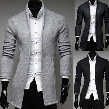 Men Vintage Blazer Wool Knitted Casual Slim Fit New Fashion Trend
