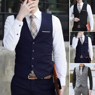 Men Formal Suit Vest Slim Fit Handsome Fashion England Style