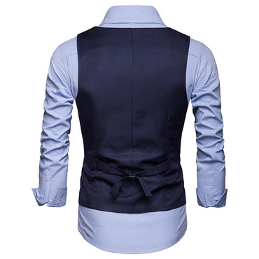 England Cuatom Made Men Suit Vests Fashion Single Breasted Business Formal Style