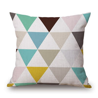 Nordic Style Deer Geometric Cushion Covers Mountain Arrows Pillow Cases Linen Cotton Pillow