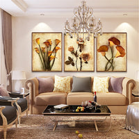 Canvas Art Oil Painting Flower Print Wall Art Modular Picture