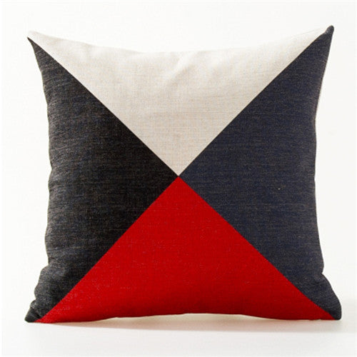Decorative throw pillows case Nordic Abstract geometric colorful lines for sofa home decor