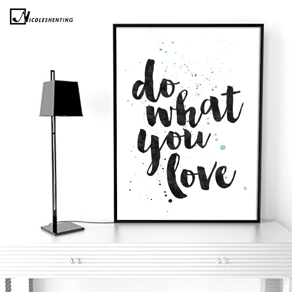 Motivational Poster Quotes Print Minimalism Wall Art Canvas Painting Picture