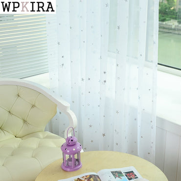 Star Tulle Modern Transparent Tulle Curtains