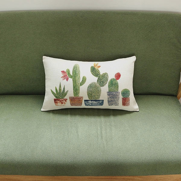 Colorful Cactus Throw Pillow Home Decorative Cushion