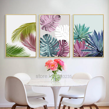 Colorful Leaf Nordic Poster Posters And Prints Wall Art Canvas Painting Wall Pictures