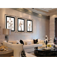 3PCS Modular Picture Art Oil Painting Flower Wall Decoration