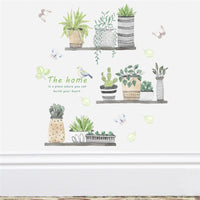 Garden plant bonsai flower butterfly wall stickers mural art home decoration