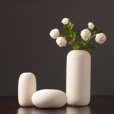New Jingdezhen Porcelain Creativity Simple And Modern Style White Ceramic Vases