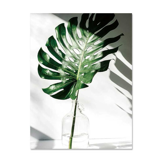 Nordic Canvas Painting Modern Prints Plant Leaf Art Posters Prints Art Wall Pictures
