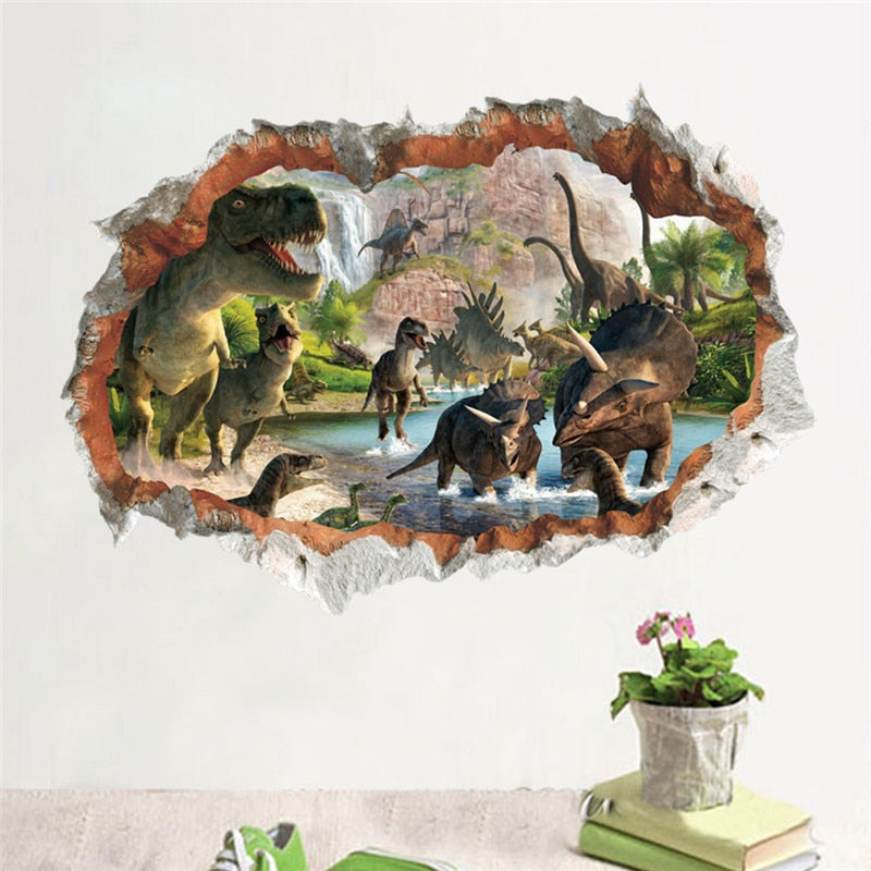 Jurassic Park dinosaur wall stickers for kids rooms bedroom home decor
