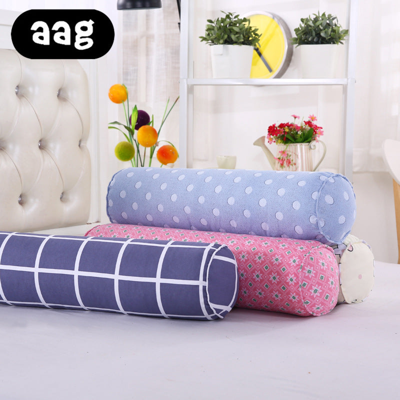 New Long Column Large Cotton Linen Pillow Candy Cylinder Waist Cushion