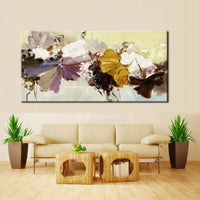 Modern Abstract Canvas Painting Wall Art Poster Hand Painted Flowers