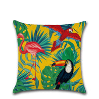 Green Leaf Tropical Palm Telopea Decorective Cushion