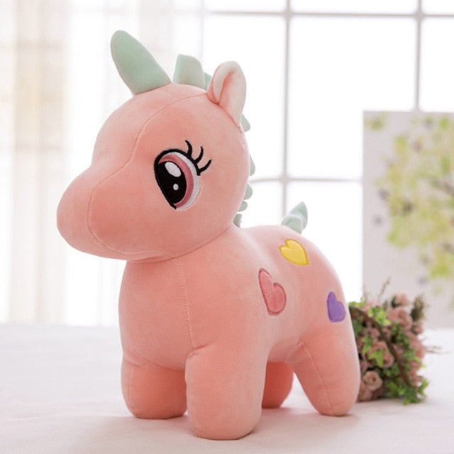 Cute Unicorn Plush Toy Soft Doll Cuddle Appease Sleeping Pillow
