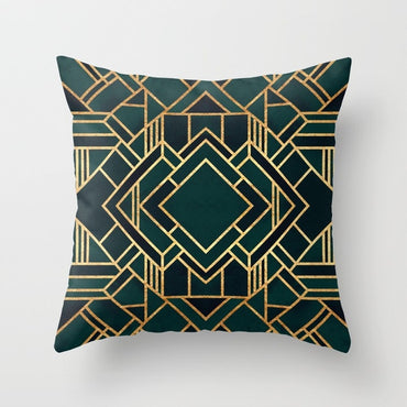 Bronzed Nordic Pillow Case Geometric Sofa Decorative Cushion
