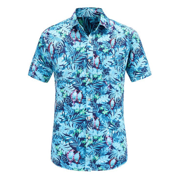 Hot Selling Men Short Sleeve Hawaiian Casual Shirt