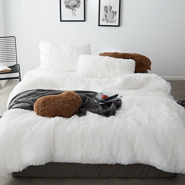 New Mink Velvet Queen Twin Size Bedding Set