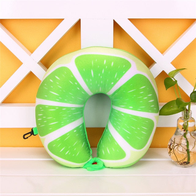 Colorful Fruit U Shaped Neck Protect Travel Pillow